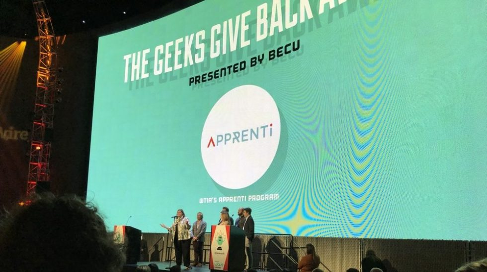 Apprenti Wins Geeks Give Back Award